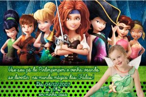 Convite digital personalizado Fadas Disney com foto 020