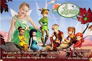 Convite digital personalizado Fadas Disney com foto 023