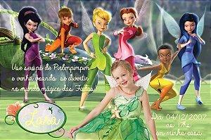 Convite digital personalizado Fadas Disney com foto 029