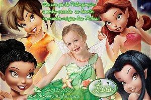 Convite digital personalizado Fadas Disney com foto 030