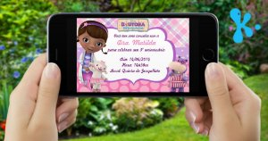 Convite digital personalizado Doutora Brinquedos 001