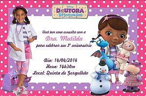 Convite digital personalizado Doutora Brinquedos com foto 005