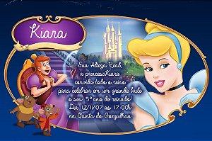 Convite digital personalizado Cinderela 006