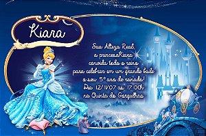 Convite digital personalizado Cinderela 011