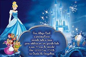Convite digital personalizado Cinderela 012