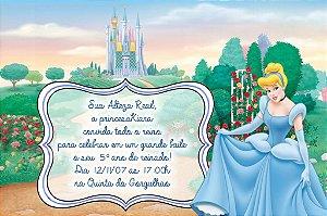 Convite digital personalizado Cinderela 024
