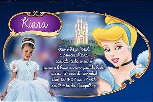 Convite digital personalizado Cinderela com foto 006