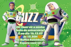 Convite digital personalizado Buzz Lightyear Toy Story com foto 006