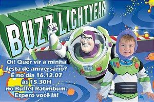 Convite digital personalizado Buzz Lightyear Toy Story com foto 008