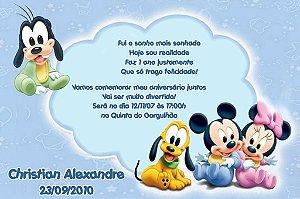 Convite digital personalizado Baby Disney 001