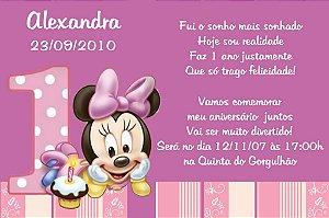 Convite digital personalizado Baby Disney 025