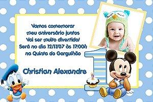 Convite digital personalizado Baby Disney com foto 022