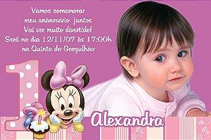 Convite digital personalizado Baby Disney com foto 025