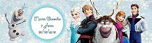 Arte para adesivo para baldinho Frozen - O Reino do Gelo