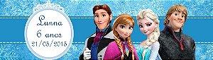 Arte para adesivo de baldinho Frozen - O Reino do Gelo