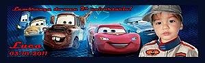 Arte para adesivo para baldinho Carros da Disney com foto