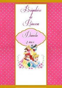 Arte para adesivo de bisnaguinha de brigadeiro Princesas Disney