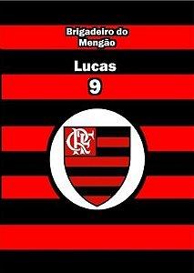 Arte para adesivo de bisnaguinha de brigadeiro Flamengo