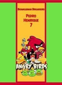 Arte para adesivo de bisnaguinha de brigadeiro Angry Birds