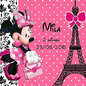 Adesivo para sacolinha perdonalizado Minnie em Paris