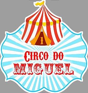 Adesivo para sacolinha perdonalizado Circo