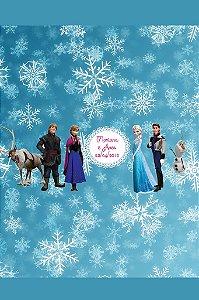 Arte para adesivo de bolsa de saida Frozen - O Reino do Gelo