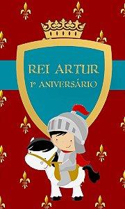 Arte para adesivo de bolsa de saida Rei Arthur