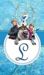 Arte para adesivo de cola Frozen - O Reino do Gelo