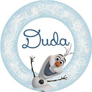 Arte para adesivo de copinho de brigadeiro Frozen - O Reino do Gelo