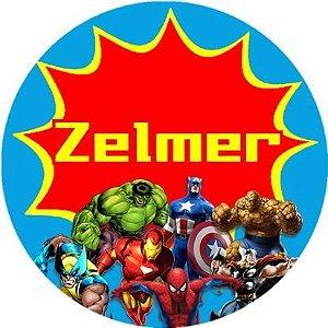 Arte para adesivo de copinho de brigadeiro Super Herois