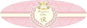 Arte para adesivo de potinho de brigadeiro de colher Princesa