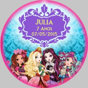 Arte para Adesivo redondo Ever After High