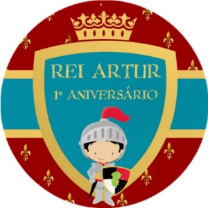 Arte para Adesivo redondo Rei Arthur