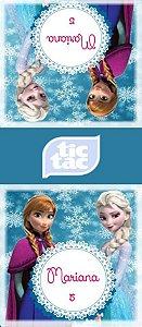 Arte para adesivo de Tic Tac Frozen - O Reino do Gelo