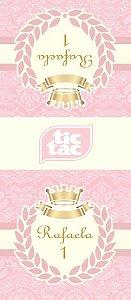 Arte para adesivo de Tic Tac Princesa