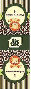 Arte para adesivo de Tic Tac Safari