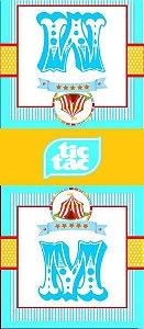 Arte para adesivo de Tic Tac Circo