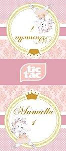 Arte para adesivo de Tic Tac Ursinha Bailarina