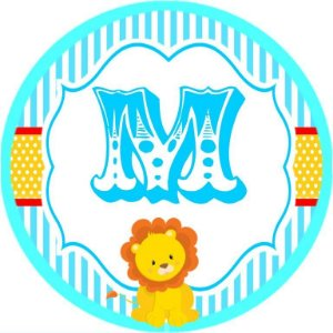 Arte para adesivo de Tubete Circo