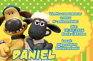 Convite digital personalizado Shaun, o Carneiro 001