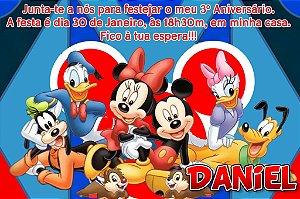 Convite digital personalizado Turma do Mickey com foto 009