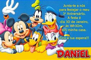 Convite digital personalizado Turma do Mickey com foto 010