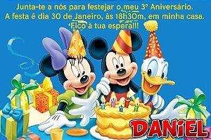 Convite digital personalizado Turma do Mickey com foto 011