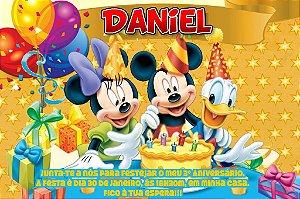 Convite digital personalizado Turma do Mickey com foto 012