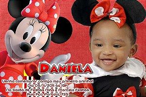 Convite digital personalizado Minnie Vermelha 002