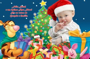 Cartão de Natal Digital Personalizado com foto