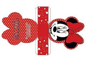 Arte para caixa da Minnie vermelha