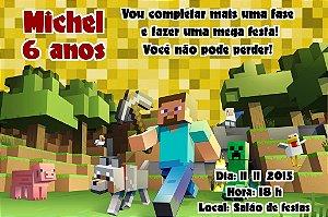 Convite digital personalizado Minecraft 002