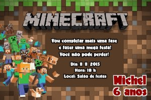 Convite digital personalizado Minecraft 003