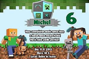 Convite digital personalizado Minecraft 004